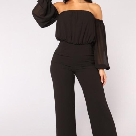1db7d85518c3 Off the shoulder Fashion Nova jumpsuit